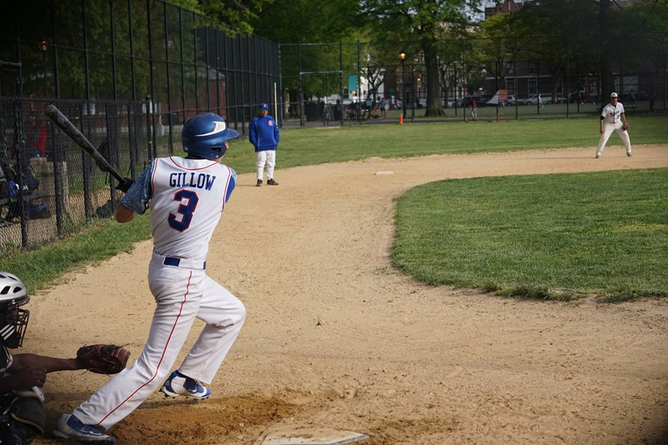 Michael Gillow batting vs. John Bowne