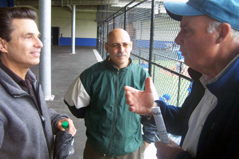 Alan Fisher ('70), Lou Digilio ('76), Coach Sharkey