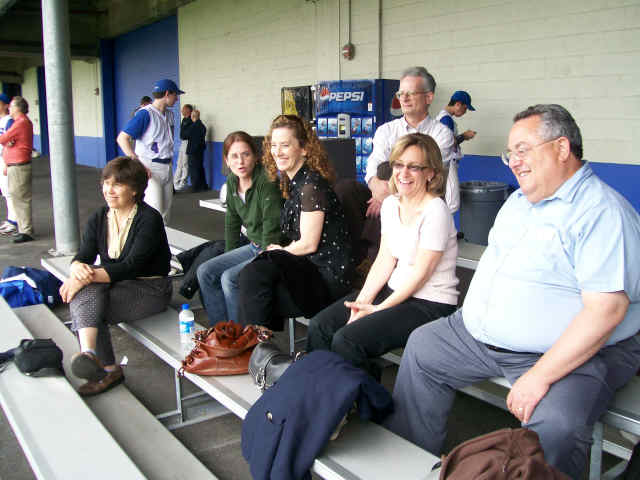 The loyal Peanut Gallery of parents at Pier 40