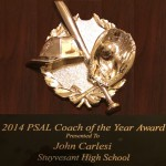 2014 PSAL Coach of the Year Award