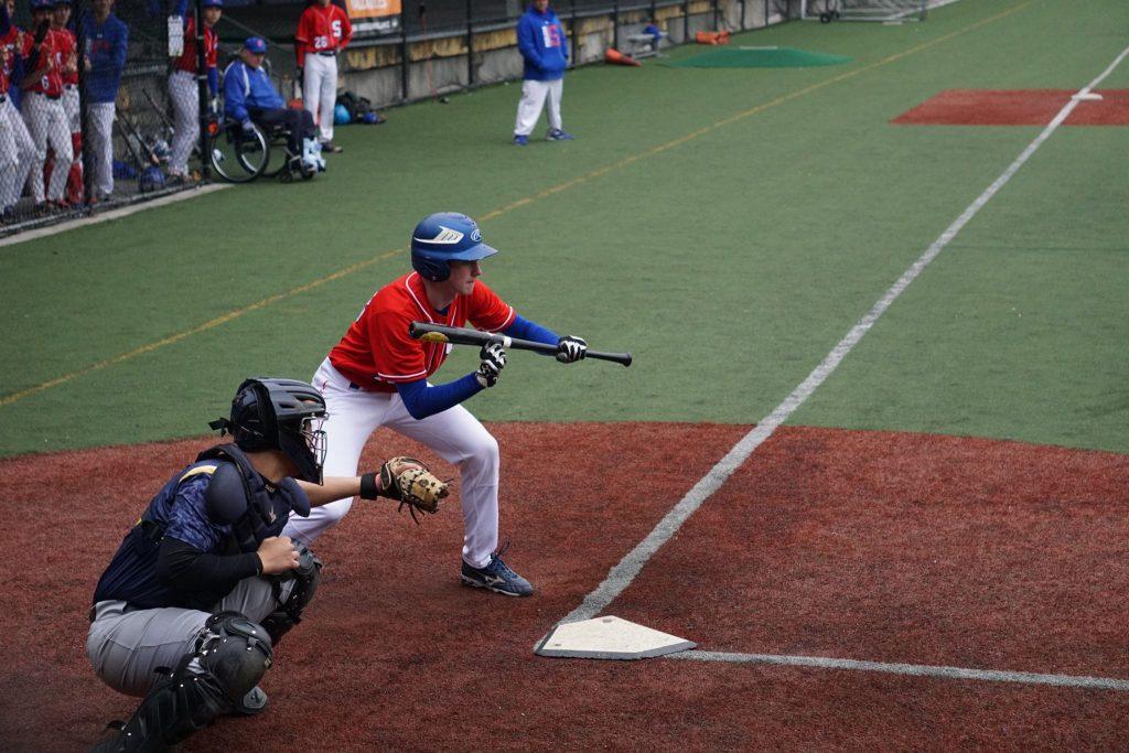 Cooper Nissenbaum bunting in the 5th inning