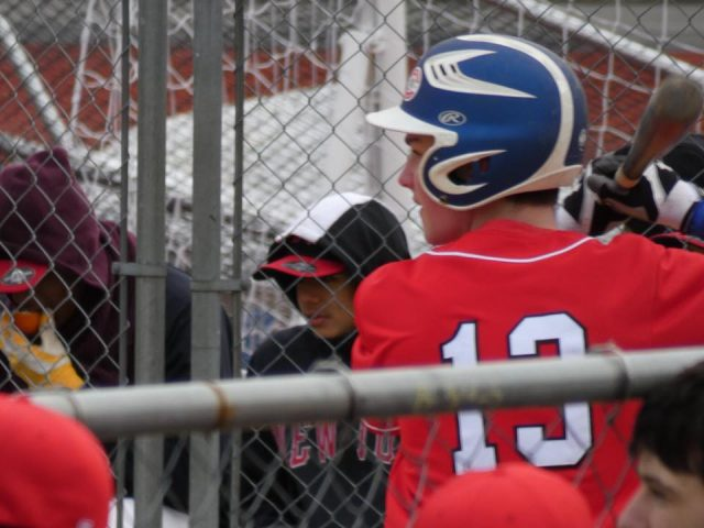 Cooper Nissenbaum at bat against Newtown